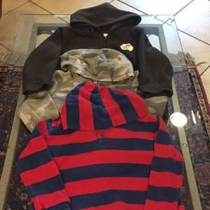 Other - 3 size 3T Hooded Tops good condition